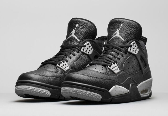 finest selection 17f79 88d36 Air Jordan 4 IV Retro Black Tech Grey Oreo 2015 408452-003 bred cement