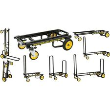 Rock N Roller Multi-Cart 8-1 Micro Equipment Transpter Cart Black Frame/Yellow