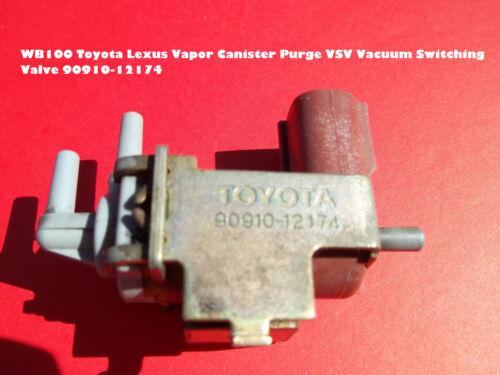 WB100 Toyota Lexus Vapor Canister Purge VSV Vacuum Switching Valve 90910-12174