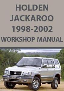 holden jackaroo 1998 2002 workshop manual ebay rh ebay co uk workshop manual holden rodeo 1999 workshop manual holden rodeo 2004