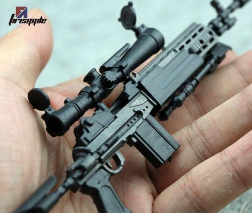 1pc Assembled 1:6 Figure Accessory Black MK14 MODO Sniper Rifle Gun Weapon Model