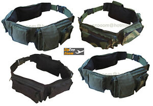 Army-Combat-Military-Travel-Utility-Bum-Day-Bag-Cargo-Pack-Belt-Black-or-Green