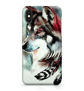 Details About Furry Majestic Combatant Wolf Drawing Orange Eyed Night Animal Phone Case Cover