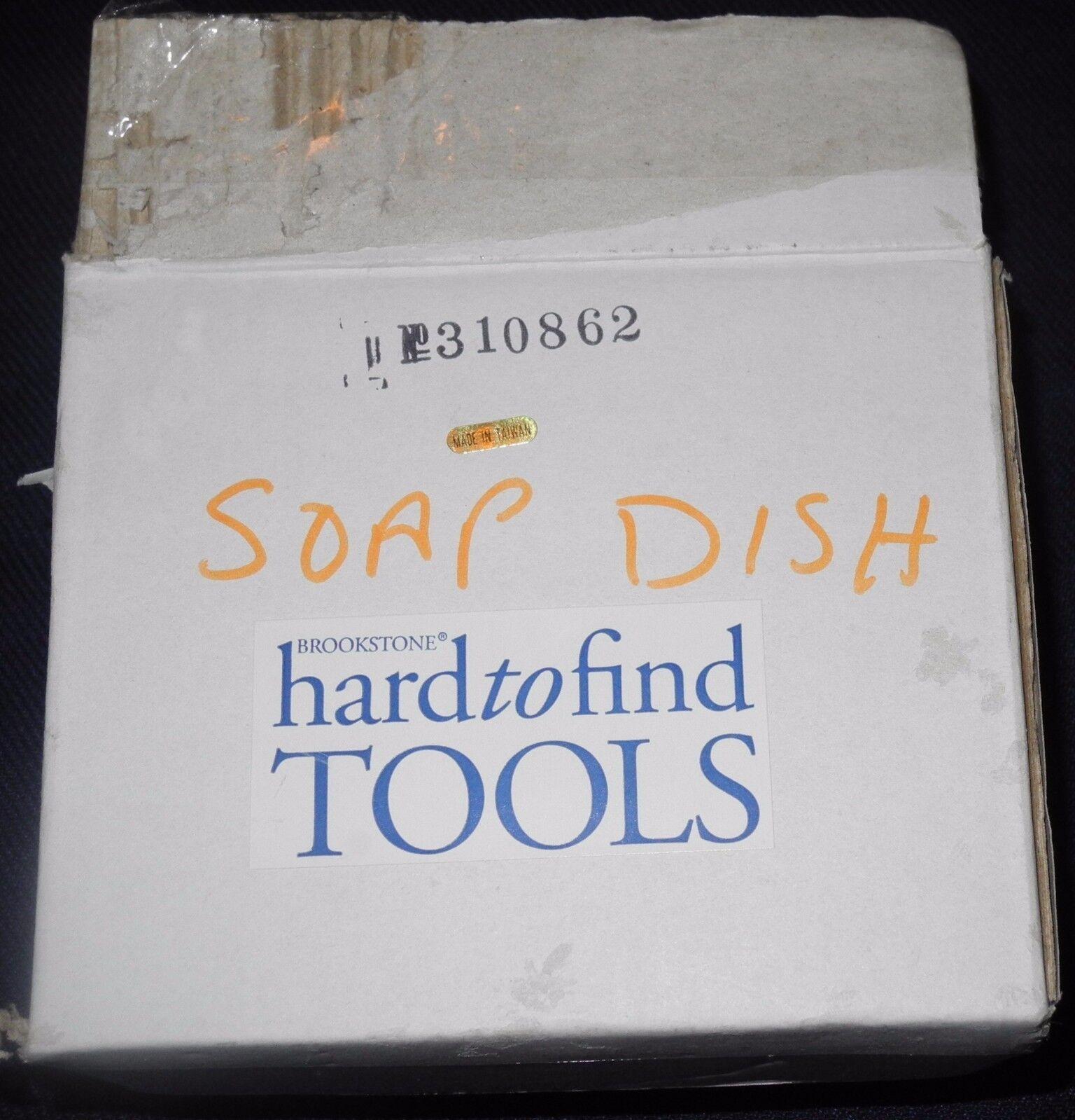NEW Brookstone Set Bathroom Towel Bar, Soap Dish, Toilet Roll ,Gold Weiß Farbe