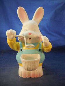 "BUBBLE BLOWING RABBIT WORKS VINTAGE 8 5/8"" TALL"