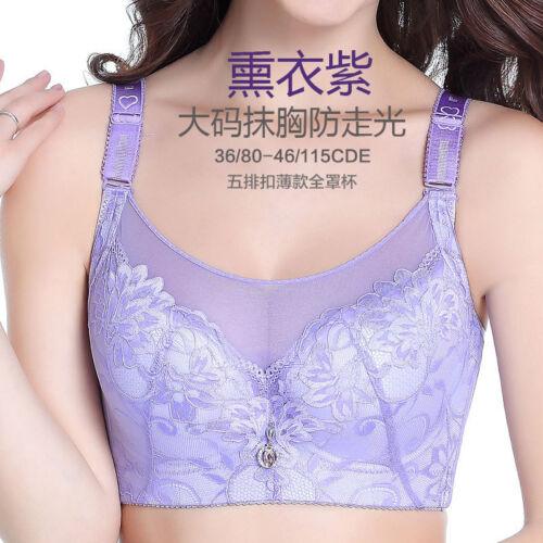 Women's Lingerie Lace Bra Comfy Underwire Bra 34-44 44 46 C D E Cup Push Up Bra