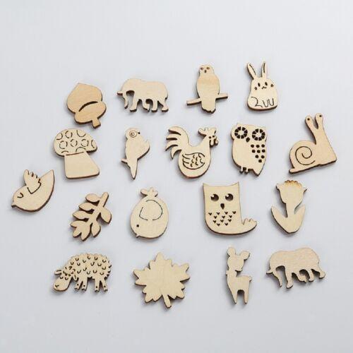 50x animaux formes holzscheiben Copeaux Bois Remorque pour bricolage pour