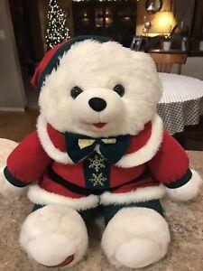 Vintage-SNOWFLAKE-TEDDY-Bear-Dan-Dee-Christmas-Plush-Stuffed-Animal-20-Walmart