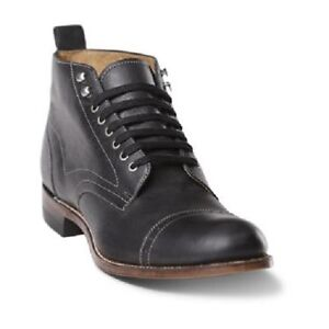 Mens-Stacy-adams-Ankle-Boot-High-Top-Leather-Brockton-Madison-00035-01-Black