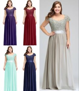 Evening Long Prom Dresses Formal Party Ball Gown Bridesmaid Plus ...