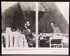 "Vintage 11x14"" Photograph President Abraham Lincoln & George McClellan Civil War"