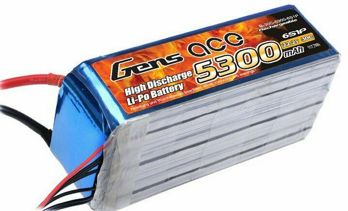Gens ace 5300mAh 22.2V 30C 6S1P Lipo Battery Pack   EU Stock