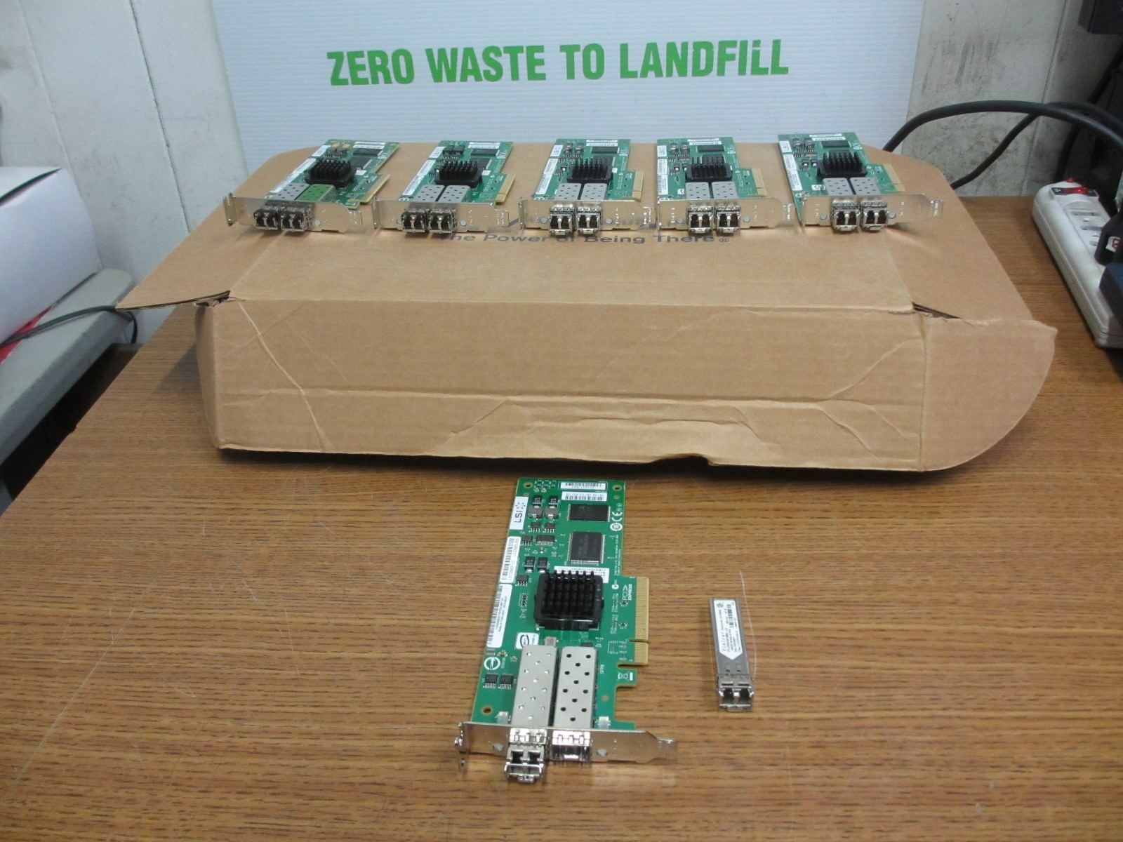 6x LSI Dual Port 4GB HBA PCI-e Low Profile Bracket LSI7204EP-LC 45W0421 w/ SFPs