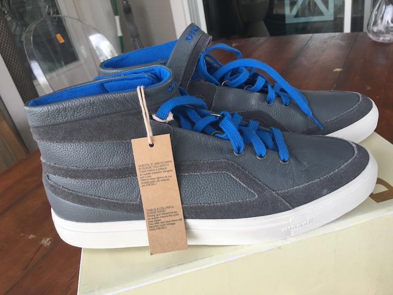 DIESEL ROUTE Mens Blau Blau Blau leather high top fashion Turnschuhe Sz. 11 (44.5 EU) 2fc38f