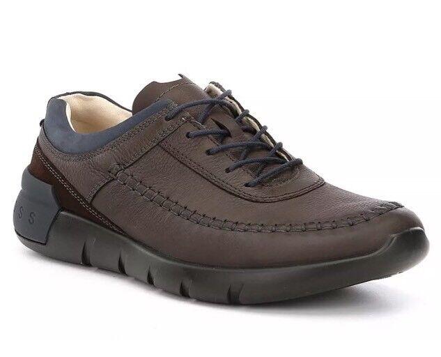 ECCO Men's Brown Cross X Classic Tie Sneakers Sz 46