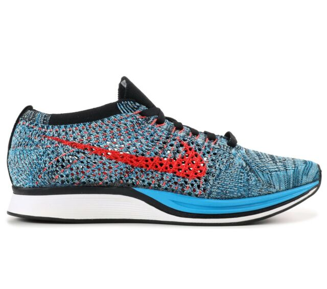 05c18cbd145dc Nike Flyknit Racer Mens 526628-404 Neo Turquoise Crimson Running Shoes Size  11.5