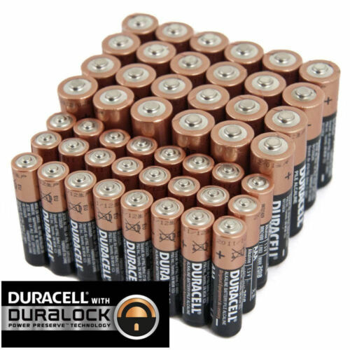 (100 Piece Combo Pk) Duracell Duralock 30 AA and 70 AAA Size Batteries EXP 2025