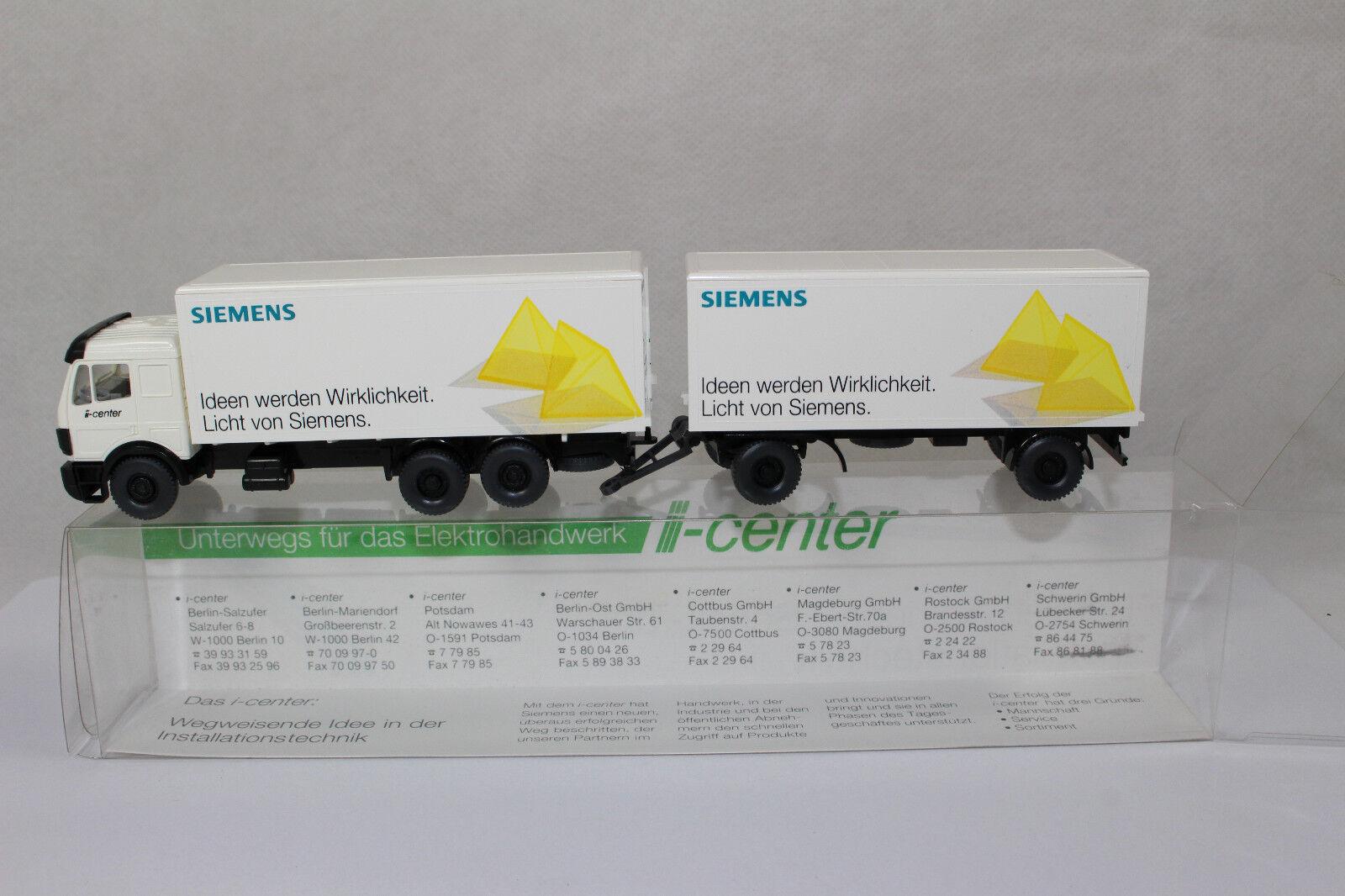 Sw2412, Wiking Siemens Mercedes -Benz Hängerzug LICHT von Siemens 1 87 HO BOX We