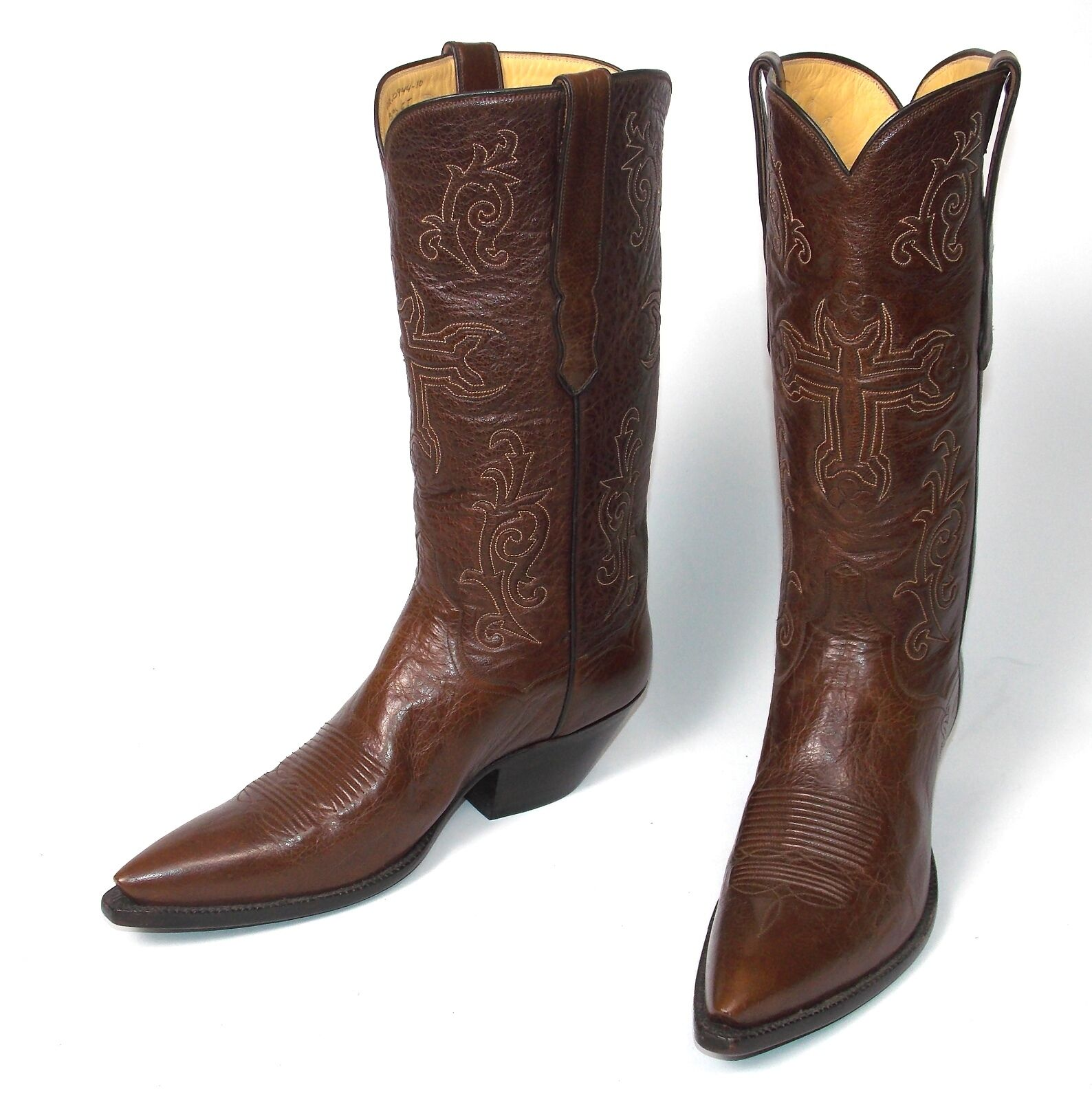 sport caldi Sexy T. O. Stanley Stanley Stanley Custom Marrone Cowboy stivali - Wms Dimensione 9.5B New w o Box  disegni esclusivi