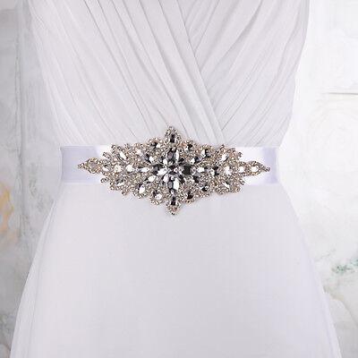 S01Bling Handmade Crystal Rhinestone Wedding Sash Belt Beads Bridal Accessories