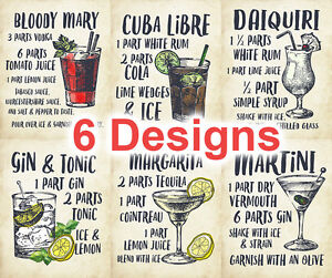 Details about Metal Plaque Sign Retro Vintage COCKTAILS RECIPES MARY GIN  MARGARITA MARTINI
