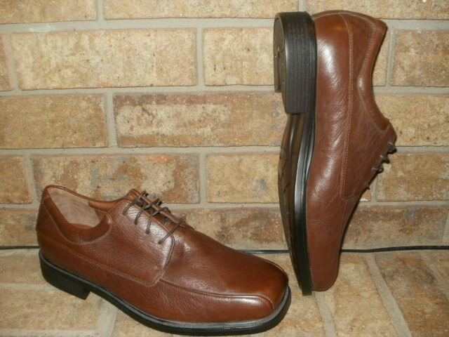 New Rockport marrón Leather Bicycle Toe Oxford Mens 12 XWide  Dynamic Suspension