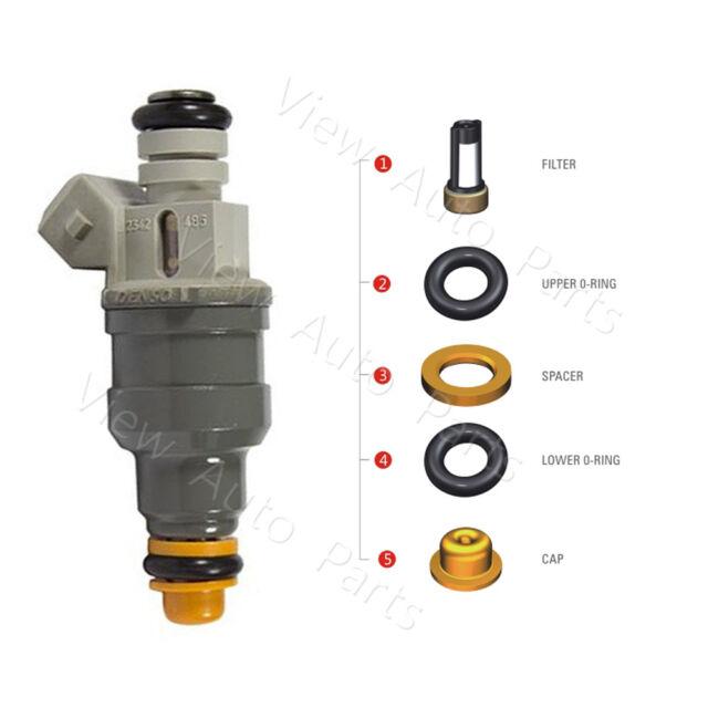 Siemens Deka V 80lb//hr Fuel Injectors EV1 Bosch Short 48mm A2C32624700 Set 2