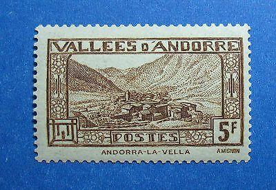 Europe 1932 Andorra French 5f Scott# 61 Michel # 45 Unused Nh Cs26410 Good Taste Stamps