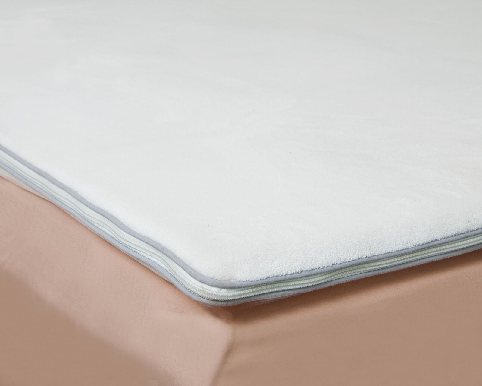 All Seasons Luxury Air Relax And Polar Fleece Memory Foam Mattress Topper Cover