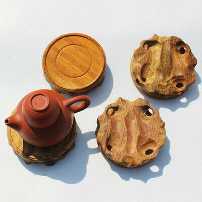Wooden Round Teapot Base Pedestal Fish Tank Vase Display Stand Oriental Retro