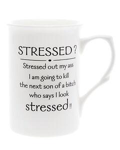 Bone-China-039-Stressed-039-Beaker-Mug