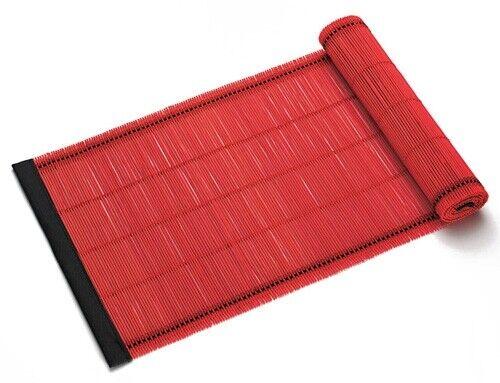Tischläufer Rot 150 x 30 cm ASIA Bambusläufer Maxwell /& Williams PLACESETS