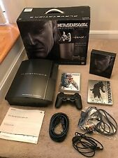PS3 Playstation 3 Console Metal Gear Solid 4 Hagane Gun-Metal *LIMITED EDITION*