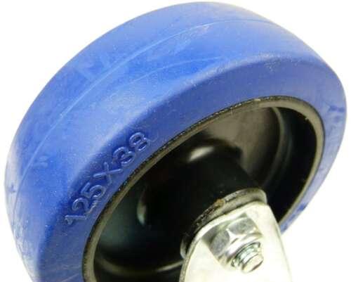 125 mm SL Rollen Bockrollen Laufrollen Transportrollen Blue Wheels Wheel 2 St