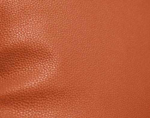 pb317t Orange-Brown Faux Leather Skin 3D Box Square Sofa Seat Cushion Cover*Size