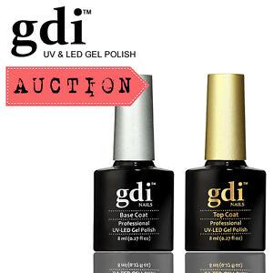 Auction-Brand-New-gdi-034-Top-amp-Base-Coat-Set-8ml-034-UV-LED-Soak-Off-Gel-Nail-Polish