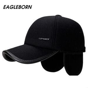 e0471e3f3f8 Image is loading Winter-Warm-Earflap-Earmuffs-Men-Baseball-Cap-Adjustable-