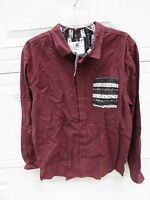 On The Byas Button-front Skate Boarding Casual Men's Shirt Sz-l