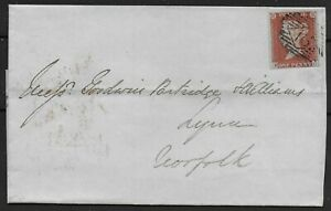 SG8-1841-1d-On-Clean-1845-Cover-From-London-To-Lynn-Kings-Lynn-Ref-0886