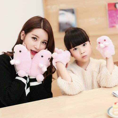 Kids Cute Lovely Knit Winter Warmer Mittens Gloves Cartoon Bunny Rabbit WA