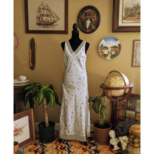 floral cottagecore slip dress - image 1