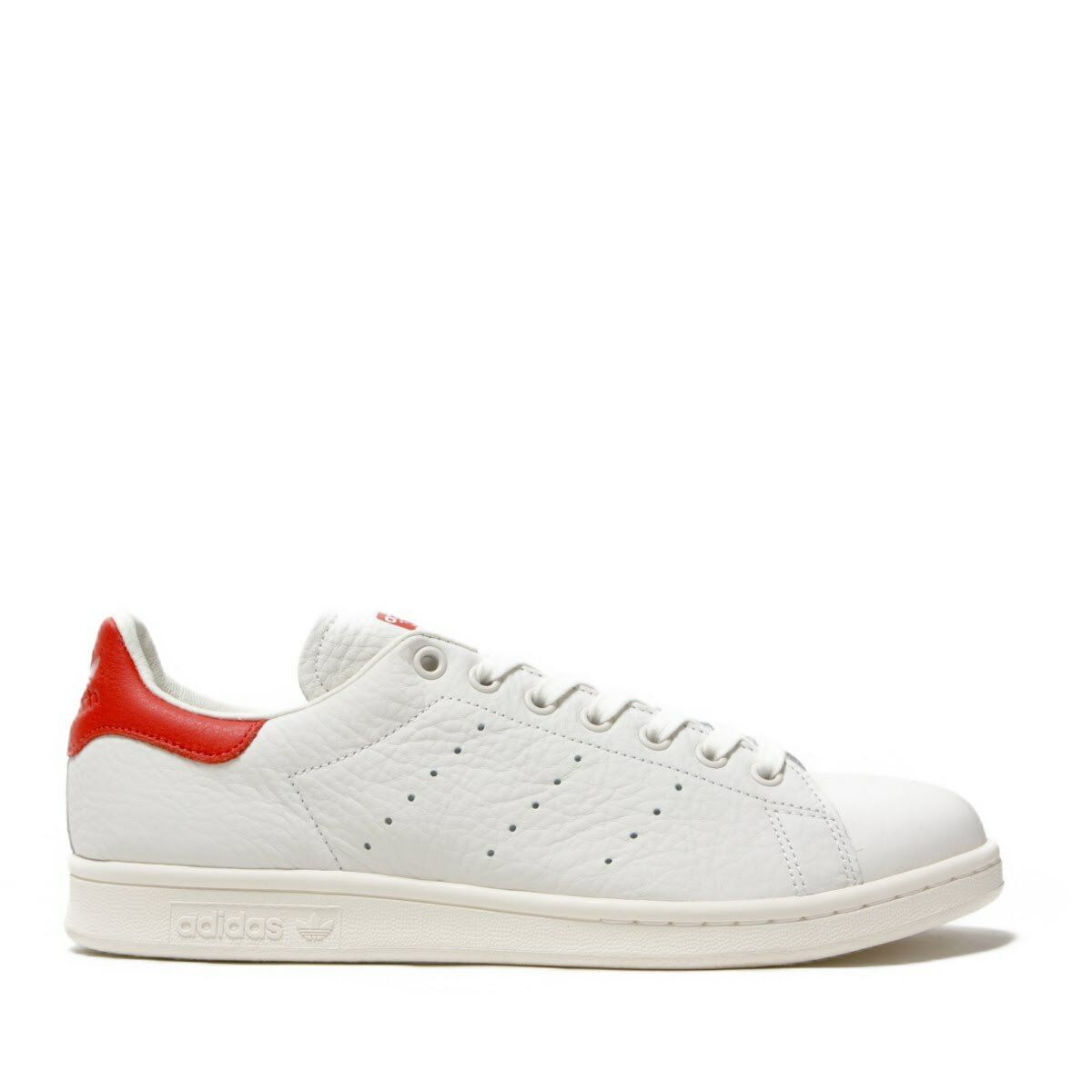 Adidas Herrenschuhe Frau Stan Smith originals weiß weiß Scharlachrot Turnschuhe