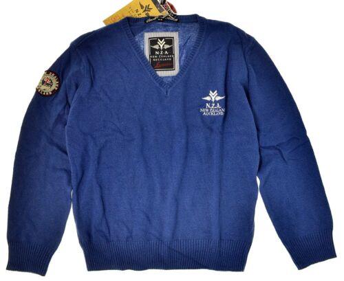 NUOVO M Nza New Zealand Auckland ●● più facilmente a Maglia-Maglione Blu oltremare chiaro DIV et. gr
