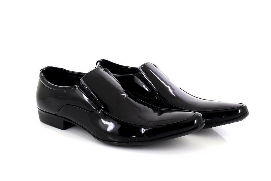 Gentlemen/Ladies Mens Mark Designer Black Patent Pointed Slip New On Wedding Party Shoes New Slip Quality products Beautiful Known for its excellent quality AH311 c74227