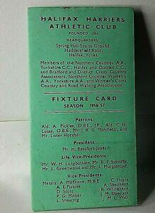 Halifax-Harriers-Athletic-Club-Fixture-Card-for-1956-57-season-Original