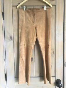 Bebe-Suede-Leather-Pants-Size-8