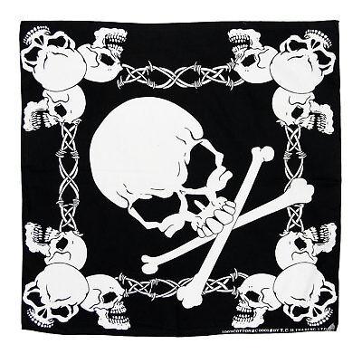 Piraten Totenkopf Kopftuch Bandana Halstuch Biker Tuch Nicki Motorrad k113