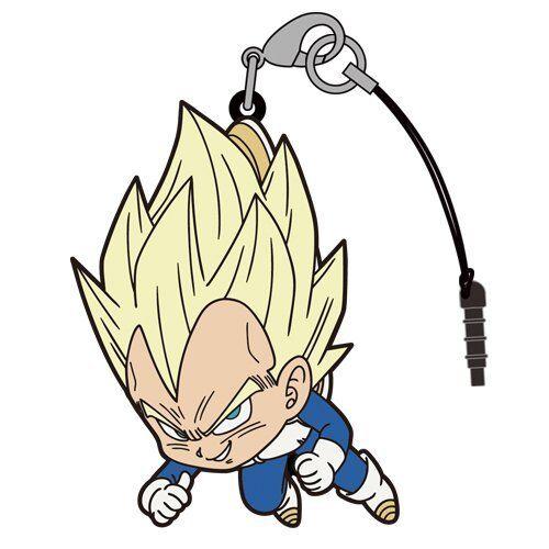 Dragon Ball SS Vegeta Character Tsumamare Cospa Character Pinch Rubber Strap