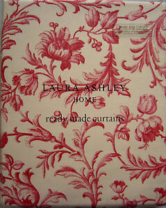 Image Is Loading LAURA ASHLEY Ironwork Scroll Cranberry Pencil Pleat Curtains