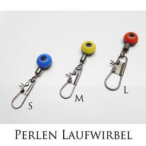 Wirbel Laufwirbel Perlen Wirbel Adapter mit Karabiner Klick Wirbel in S M L erhältlich!